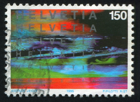 absolution: SWITZERLAND - CIRCA 1995: stamp printed by Switzerland, shows abstraction, circa 1995