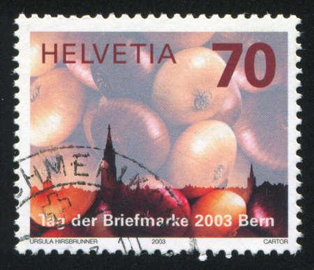 SWITZERLAND - CIRCA 2003: stamp printed by Switzerland, shows bulb, circa 2003