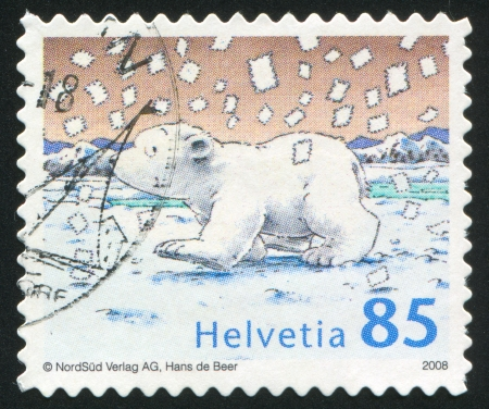SWITZERLAND - CIRCA 1983: stamp printed by Switzerland, shows Little Polar Bear, circa 1983