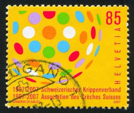 centers: SWITZERLAND - CIRCA 2007: stamp printed by Switzerland, shows Day Care Centers, circa 2007