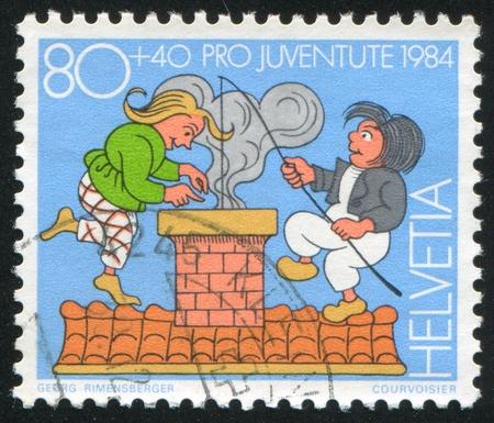 SWITZERLAND - CIRCA 1984: stamp printed by Switzerland, shows Max and Moritz, circa 1984 Stock Photo - 14755683