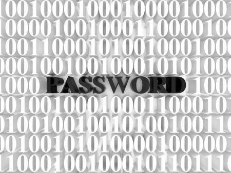 High resolution image password. 3d rendered illustration. Symbol password. Stock Illustration - 14823068