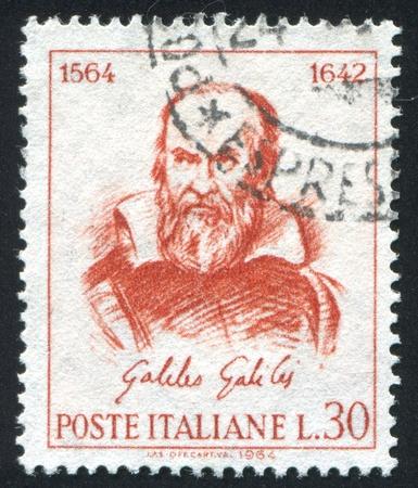 ITALY - CIRCA 1964: stamp printed by Italy, shows Galileo Galilei, circa 1964 Stock Photo - 14756556
