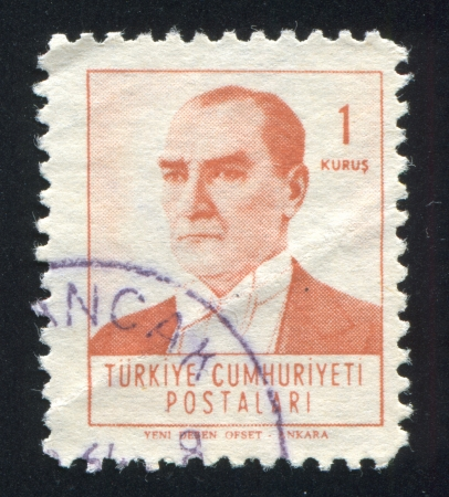 TURKEY - CIRCA 1961: stamp printed by Turkey, shows president Kemal Ataturk, circa 1961.