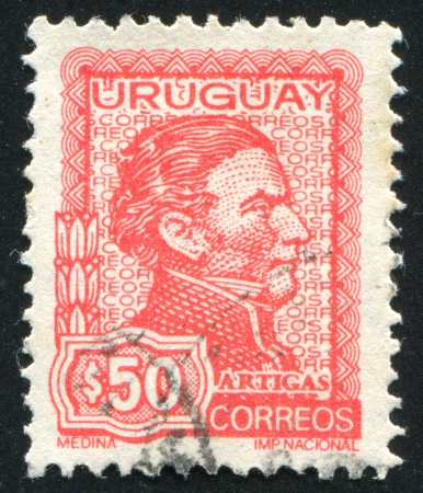 artigas: URUGUAY - CIRCA 1972: stamp printed by Uruguay, shows Jose Gervasio Artigas, circa 1972
