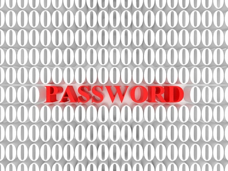 High resolution image password. 3d rendered illustration. Symbol password. Stock Illustration - 15193281