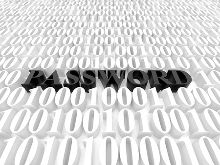 High resolution image password. 3d rendered illustration. Symbol password. Stock Illustration - 15193282
