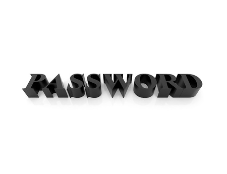 High resolution image password. 3d rendered illustration. Symbol password. Stock Illustration - 15193277