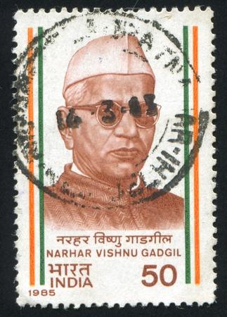 shankar: INDIA - CIRCA 1985: stamp printed by India, shows Ganesh Shankar Vidyarthi, circa 1985