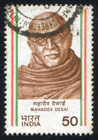 mahadev: INDIA - CIRCA 1983: stamp printed by India, shows Ganesh Shankar Vidyarthi, circa 1983