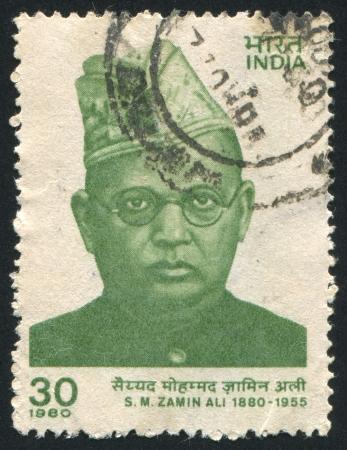 mohammad: INDIA - CIRCA 1980: stamp printed by India, shows Syed Mohammad Zamin Ali, circa 1980