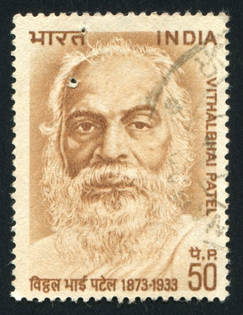 INDIA - CIRCA 1962: stamp printed by India, shows Vithalbhai Patel, National Leader, circa 1962 Stock Photo - 14818491