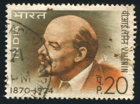 INDIA - CIRCA 1970: stamp printed by India, shows Lenin, circa 1970