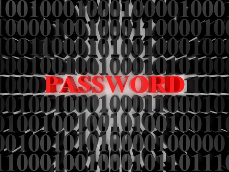 High resolution image password. 3d rendered illustration. Symbol password. Stock Illustration - 15215391