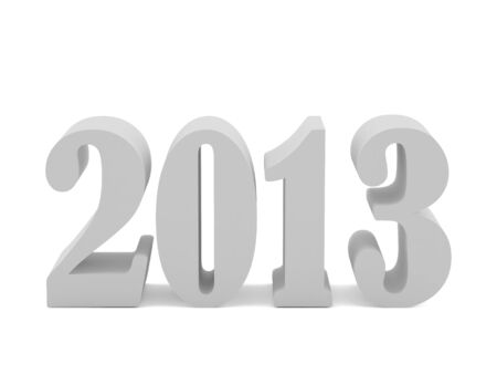 New 2013 year card. High resolution image.  3d rendered illustration. illustration