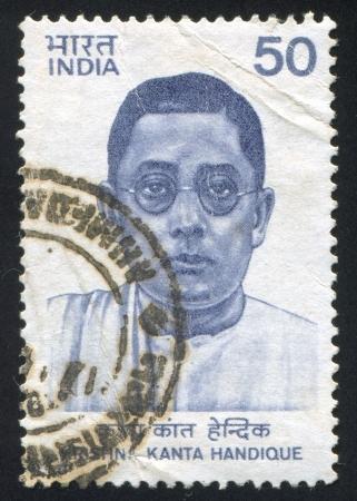 linguist: INDIA - CIRCA 1983: stamp printed by India, shows Krishna Kanta Handique, Linguist, Sanskritist, Educator and Scholar, circa 1983 Editorial