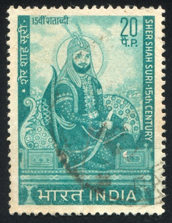 shah: INDIA - CIRCA 1970: stamp printed by India, shows Sher Shah Suri, circa 1970