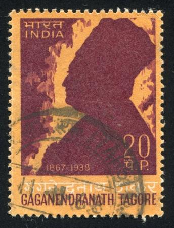 tagore: INDIA - CIRCA 1968: stamp printed by India, shows Gaganendranath Tagore, circa 1968