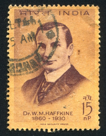 INDIA - CIRCA 1964: stamp printed by India, shows Dr. Waldemar M. Haffkine, circa 1964