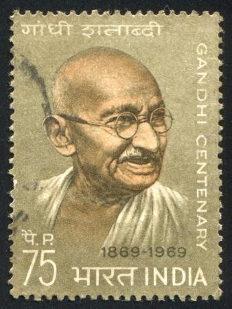 mahatma: INDIA - CIRCA 1969: stamp printed by India, shows Mahatma Gandhi, circa 1969