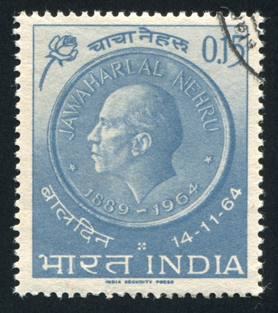 INDIA - CIRCA 1964: stamp printed by India, shows Nehru Medal and Rose, circa 1964