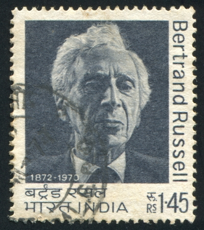 INDIA - CIRCA 1972: stamp printed by India, shows Bertrand Russell, circa 1972 報道画像