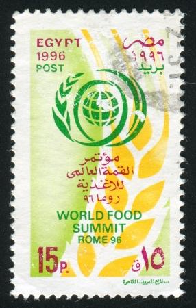 abjad: EGYPT - CIRCA 1996: stamp printed by Egypt, shows Emblem, circa 1996 Editorial