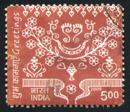 stratification: INDIA - CIRCA 2009: stamp printed by India, shows Pattern, circa 2009 Editorial
