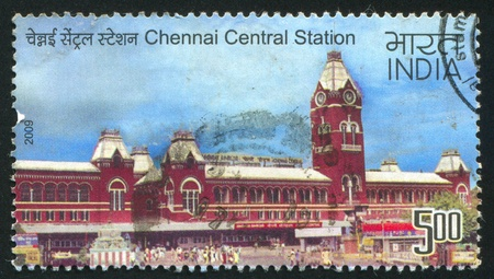 INDIA - CIRCA 2009: stamp printed by India, shows Chennai Central station, circa 2009