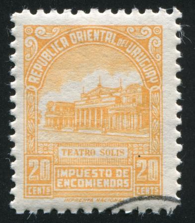 URUGUAY - CIRCA 1953: stamp printed by Uruguay, shows Solis Theater, circa 1953
