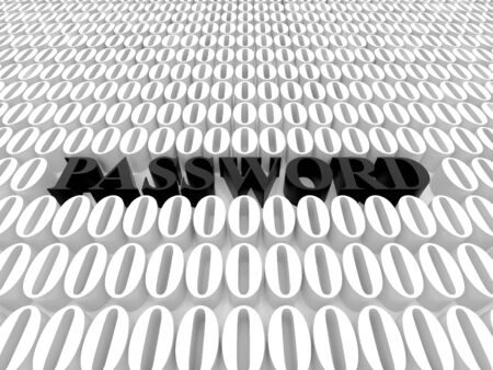 High resolution image password. 3d rendered illustration. Symbol password. Stock Illustration - 14993972