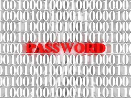 High resolution image password. 3d rendered illustration. Symbol password. Stock Illustration - 14993966