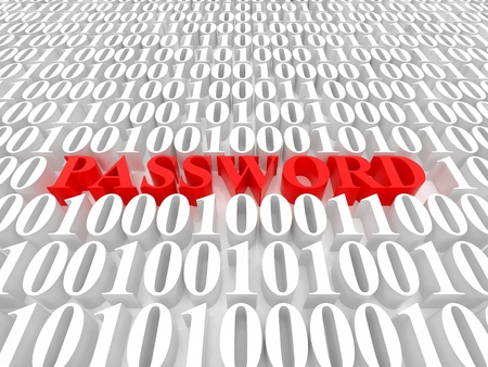 High resolution image password. 3d rendered illustration. Symbol password. Stock Illustration - 15061787