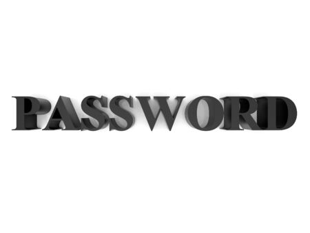 High resolution image password. 3d rendered illustration. Symbol password. Stock Illustration - 15061775