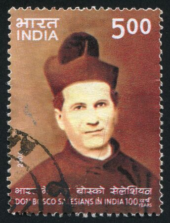 bosco: INDIA - CIRCA 2006: stamp printed by India, shows Salesians of Don Bosco in India, circa 2006