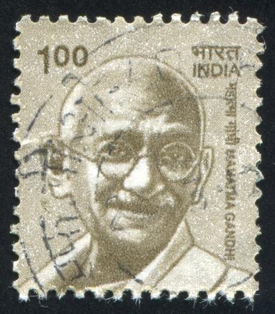 INDIA - CIRCA 2000: stamp printed by India, shows Mahatma Gandhi, circa 2000