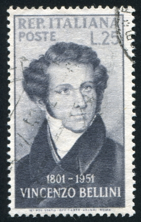 bellini: ITALY - CIRCA 1952: stamp printed by Italy, shows Vincenzo Bellini, composer, circa 1952
