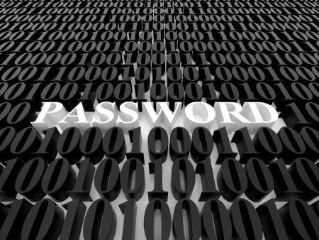 High resolution image password. 3d rendered illustration. Symbol password. illustration