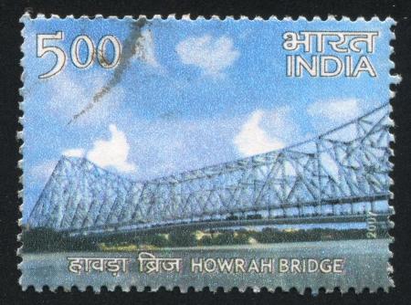 howrah: INDIA - CIRCA 2007: stamp printed by India, shows Howrah Bridge, circa 2007 Editorial