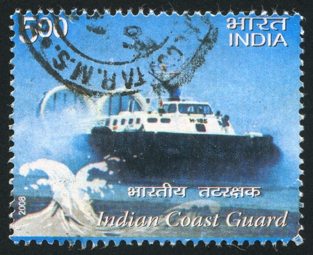 INDIA - CIRCA 2008: stamp printed by India, shows ship Indian Coast Guard, circa 2008 Stock Photo - 15240120