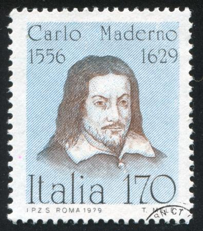 maderno: ITALY-CIRCA 1979: stamp printed by Italy, shows Carlo Maderno, circa 1979