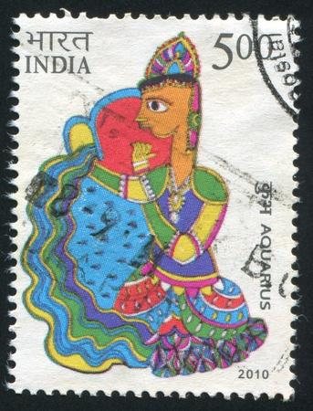 INDIA - CIRCA 2010: stamp printed by India, shows Aquarius, circa 2010