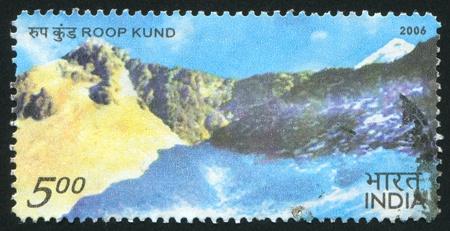 INDIA - CIRCA 2006: stamp printed by India, shows Roop Kund lake, circa 2006