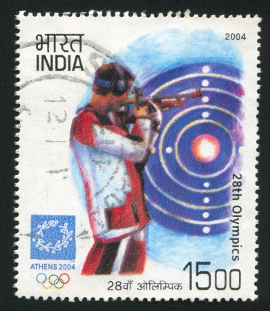 olympiad: INDIA - CIRCA 2004: stamp printed by India, shows shot at Games of the XXVIII Olympiad, circa 2004