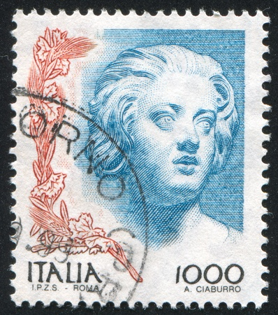ITALY - CIRCA 1998: stamp printed by Italy, shows Sculpture of Constanza Buonarelli by Gian Lorenzo Bernini, circa 1998