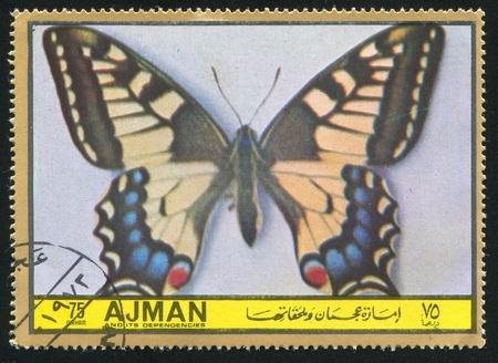 ajman: AJMAN - CIRCA 1971: stamp printed by Ajman, shows butterfly, circa 1971