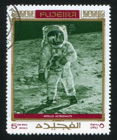 FUJEIRA - CIRCA 1991: stamp printed by Fujeira, shows astronaut, Neil Alden Armstrong, circa 1991 Editorial