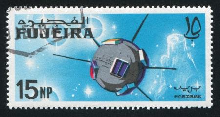 fujeira: FUJEIRA - CIRCA 1981: stamp printed by Fujeira, shows satellite, circa 1981