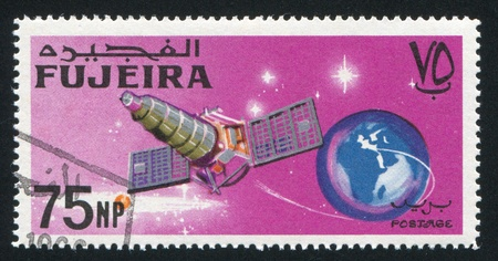 FUJEIRA - CIRCA 1981: stamp printed by Fujeira, shows satellite, circa 1981