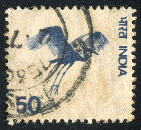 INDIA - CIRCA 1975: stamp printed by India, shows Flying Crane, circa 1975